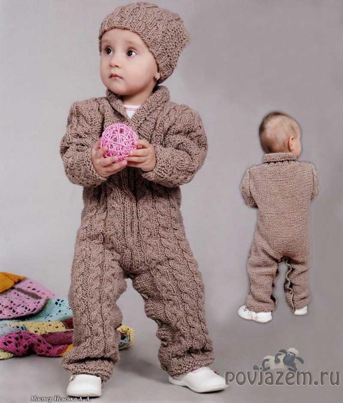 Вязание на малышей комбинезон 264
