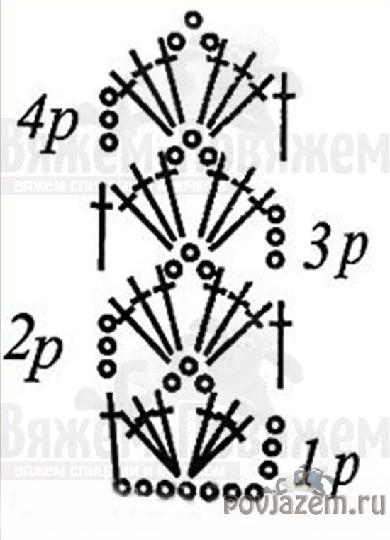 Вязание крючком бретельки со схемой описанием 5