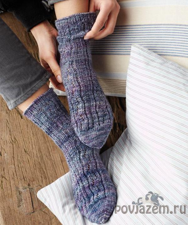 носки и тапочки спицами схемы с описанием